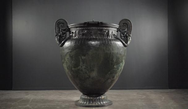 Le vase de Vix, photo extraite du film L'énigme de la tombe celte